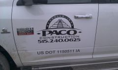 Paco Construction New Truck