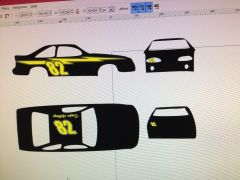 Taylor Gedding's car in Inkscape