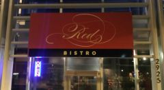 Red Bistro Sign