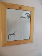 Wolf Howling Mirror