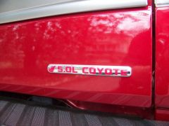 """Coyote """"Flex Fuel"""" emblem overlay"""