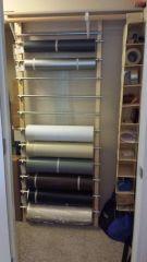 50 yard Vinyl Rack