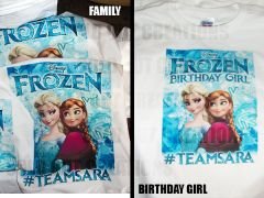"Custom Ordered ""Frozen"" Shirts"