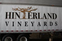 Winery Trailer, printed logo and cut vinyl lettering