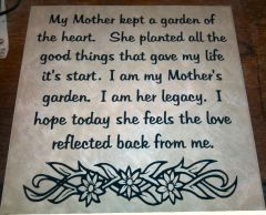 Mother's Day Tile - Applied Decal