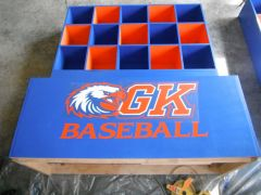 Baseball dugout container