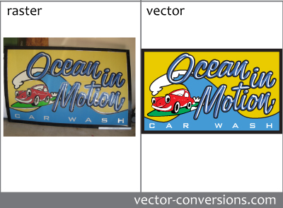 Manual vectorization of store-front sign