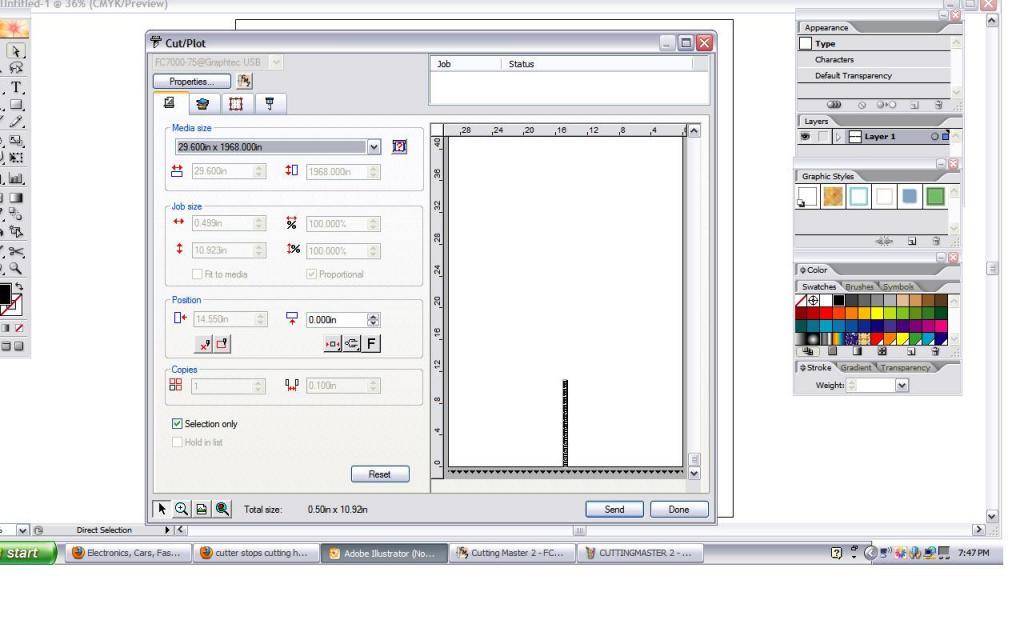 Cutter Stops Cutting Half Way Through Job Graphtec