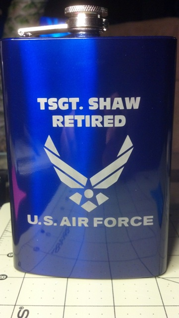 Etched Flask for a Vet - Show your work - USCutter Forum