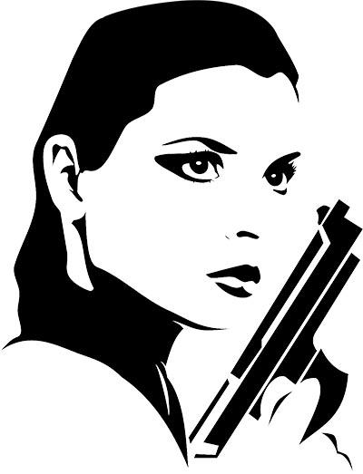 Woman Spy Shooter Sticker 1 small web.jpg
