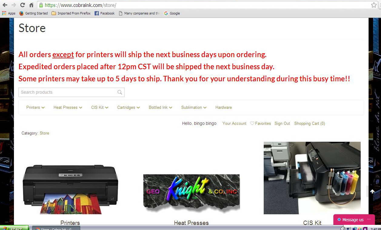 Cobra Ink com Experience (not good) - Sublimation - USCutter Forum